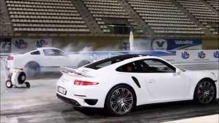 2014 Porsche 911 Turbo (991) vs Shelby GT500 - Yas Marina Drag Strip, Abu Dhabi
