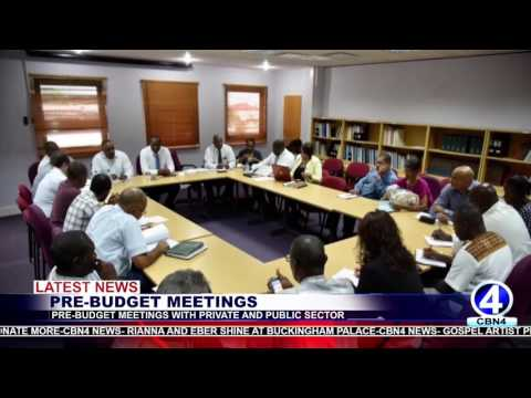 PRIME MINISTER HOLDS PRE BUDGET MEETINGS WITH PRIVATE AND PUBLIC SECTOR STAKEHOLDERS