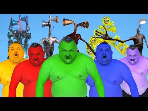 Team Hulk VS Metal Siren Head VS Robot Siren Head VS Gold Siren Head VS Street Light Siren Head