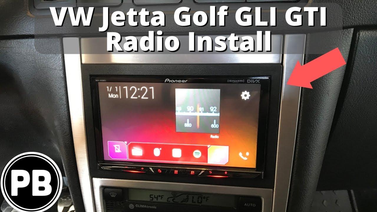 1999 - 2004 VW Golf / GTI / R32 Radio Install   MVH-2300NEX Vw Golf Radio Wiring Harness on vw bus wiring harness, vw radio removal tool, vw turn signal wiring harness,
