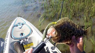 Kayak Fishing with Kden and Down South Lures 4k