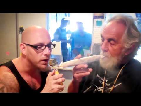 Tommy Chong Rolls a Giant Joint on Hashbar TV