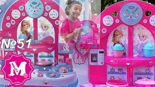 Мини кухня Фрозен Эльза и Анна игровой набор для девочек Обзор от Mika Miracle видео для детей