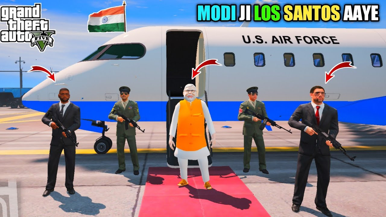 GTA 5 : INDIAN PRIME MINISTER MEETS MICHAEL IN LOS SANTOS || BB GAMING