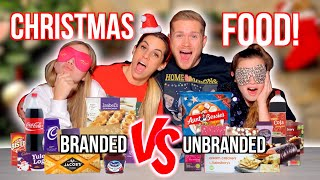 BRANDED VS UNBRANDED CHRISTMAS FOOD! VLOGMAS DAY 11 2019
