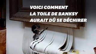 L'œuvre de Banksy ne s'est pas détruite comme prévu