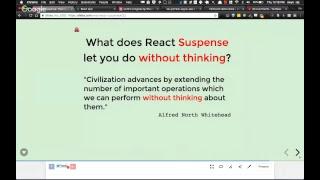 React Suspense: a solo talk