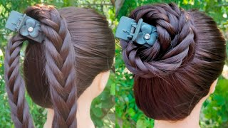 New Simple Juda Hairstyle With Using Clutcher || Easy Everyday Girls Hairstyle || Juda Hairstyle ||