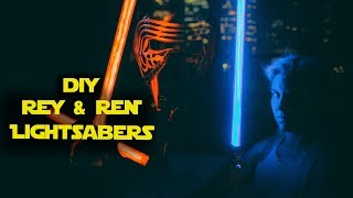 DIY LIGHTSABERS with NEOXPIXEL blade and PARTY MODE Arduino controlled How to Make