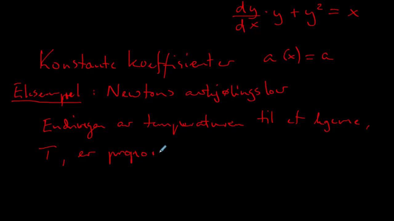 Lineære første-ordens differential-ligninger