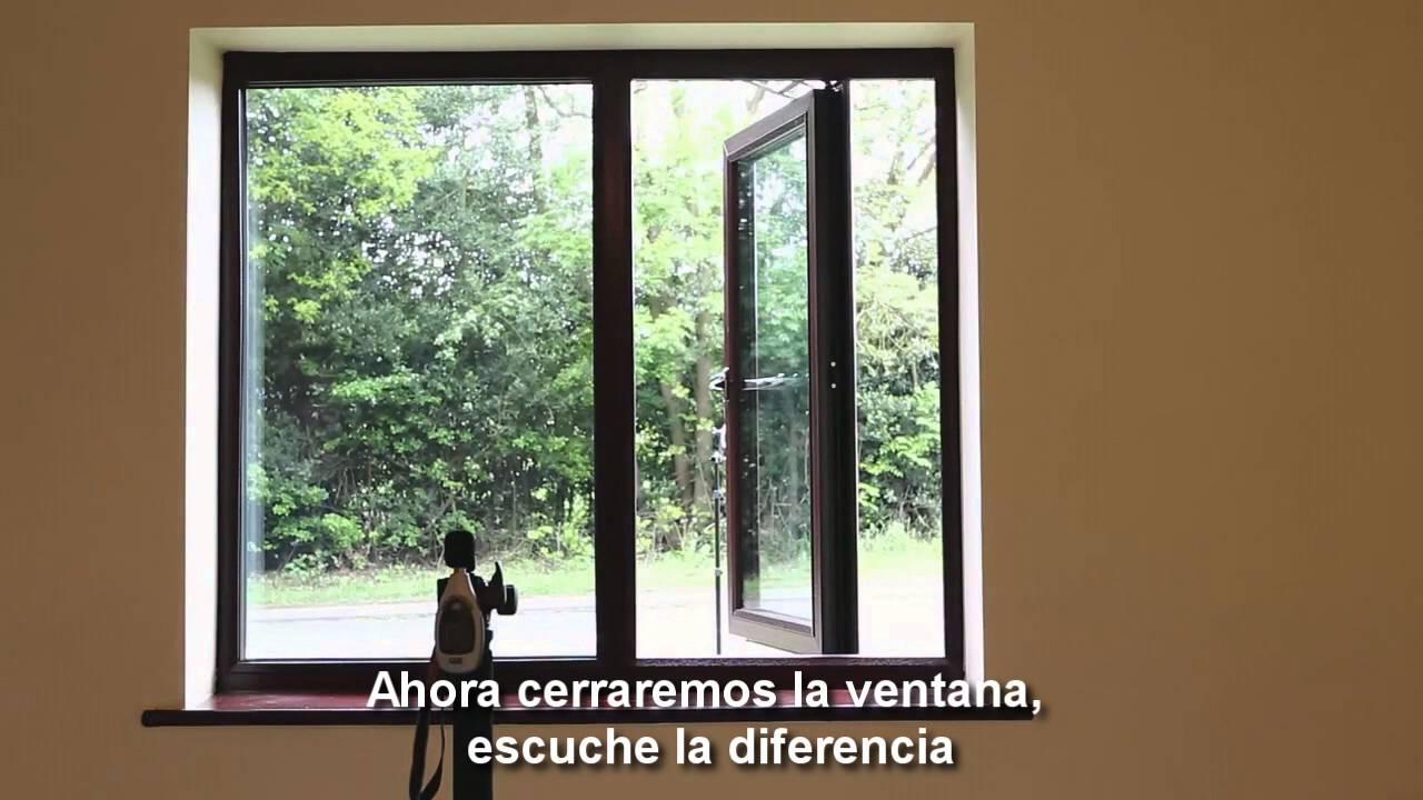 Prueba ac stica de una ventana con doble vidrio herm tico for Ventanas de aluminio doble vidrio argentina