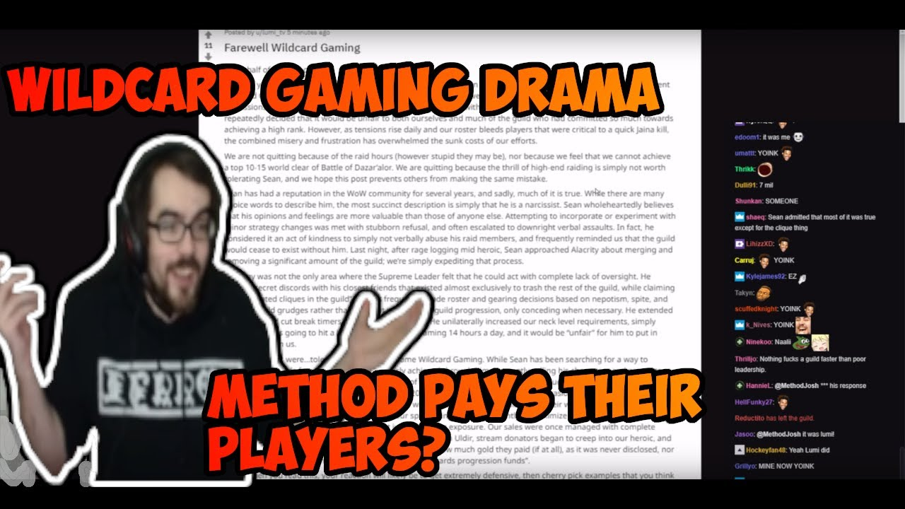 Methodjosh reacts to Wildcard Gaming drama and speaks Method salaries