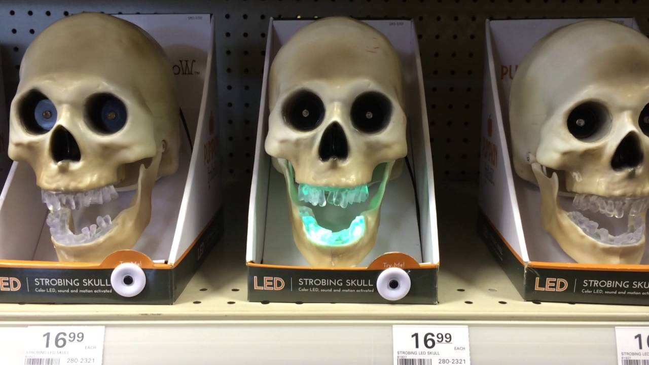 menards halloween 2016 led musical strobing skull - Menards Halloween Decorations