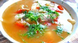 Узбекская суп  шурпа из говядины