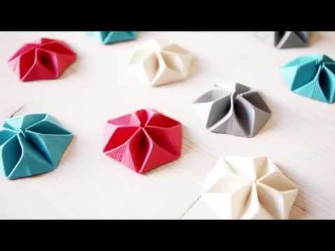 tuto origami rosace