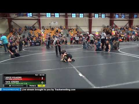 FLY 43-43 Jayce Folkers Cheyenne Mountain WC Vs Tate Kinder Golden Eagle Wrestling Club