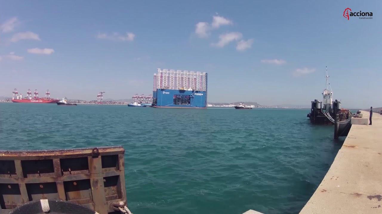 Ampliación del Puerto de Barcelona: Llegada del Kugira | ACCIONA