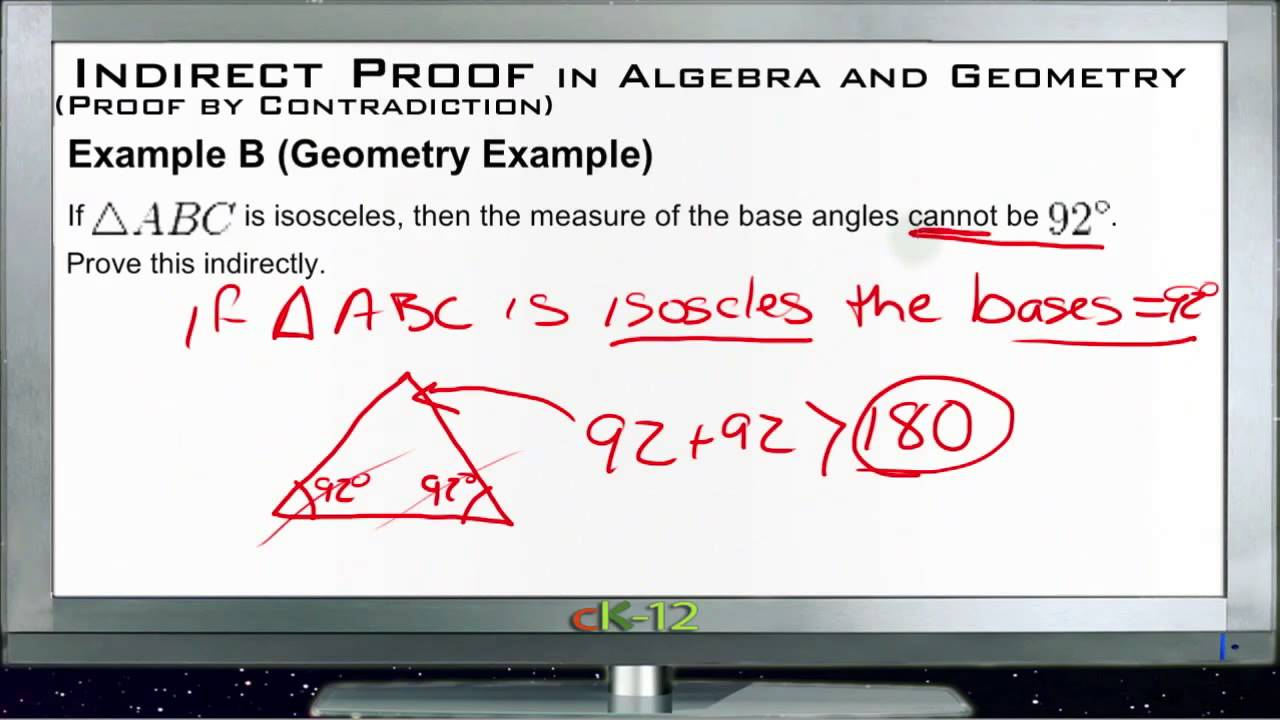 indirect proofs in algebra and geometry examples basic