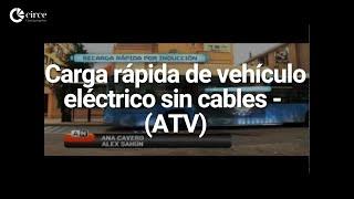 Carga rápida de vehículo eléctrico sin cables - Aragón Televisión