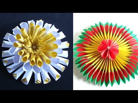 Easy & Beautiful Paper Flowers Making || Room Decor Ideas 2020 .