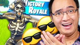 🤣 ON DOMINE WITH THE NEW SKIN -CHASSEUSE IN THE CRÂNE- ON FORTNITE BATTLE ROYALE!