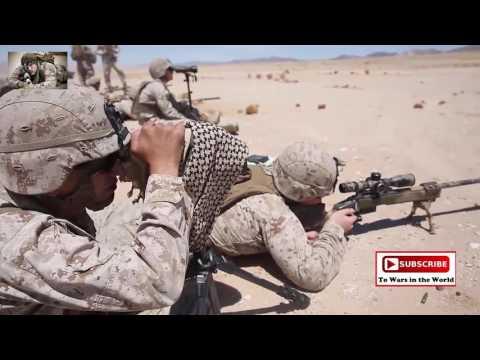 Marines Hit Targets On The Rifle Range