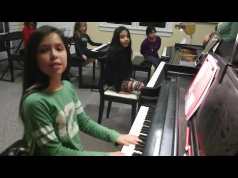 Improvising with two duple patterns and Sing/Play Bim Bam at piano