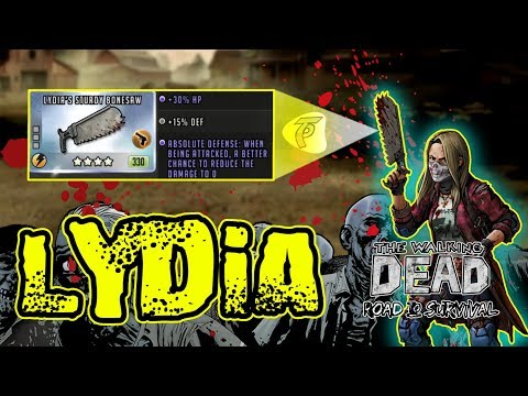 Lydia, The Ultimate Defense! God Tier Weapon!  - The Walking Dead Road To Survival
