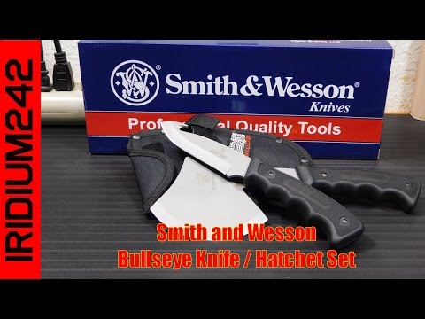 Smith and Wesson Bullseye Knife / Hatchet Set Review