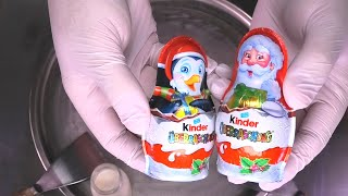 SPECIAL kinder Surprise Eggs - Ice Cream Rolls with Toys | Chocolate Ice Cream and Toy Opening ASMR