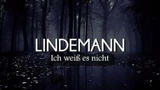 LINDEMANN - Ich weiß es nicht (Lyrics/Sub Español)