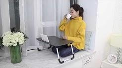 Преносима маса за лаптоп с поставка за чаша и за таблет