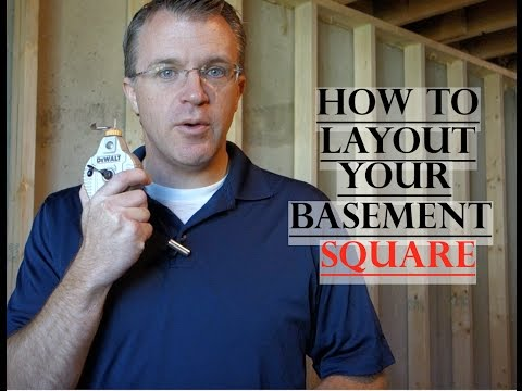 Basement Framing - How to Layout Square Lines (Part 1)