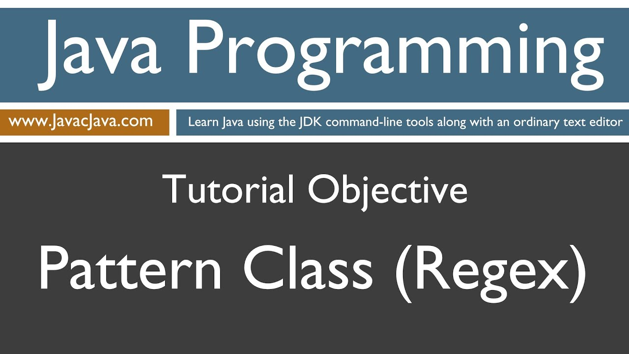 Learn java programming pattern class regex tutorial youtube baditri Images