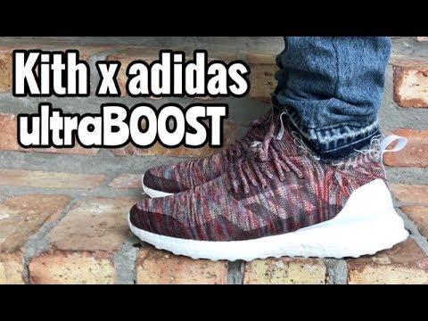 "c88db5f751384 adidas x KITH ultraboost Mid ""Aspen"" on feet - YouTube"