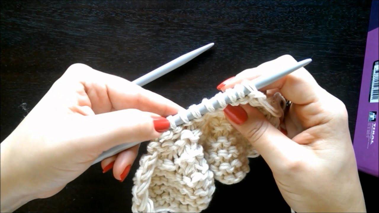 Cómo tejer un gorro caído unisex con dos agujas/palillos - YouTube