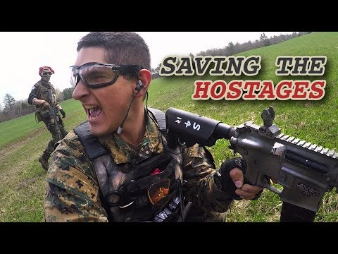 Hostage Rescue Mission - Japan vs China - Maine Airsoft