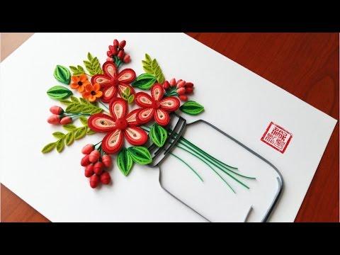 Paper Quilling Flower For beginner Learning Video 21 // Paper Flower Design