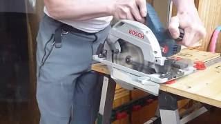 Bosch GKS 55 +G пиление: алюминиевая прямоугольная труба(, 2016-03-12T17:31:09.000Z)