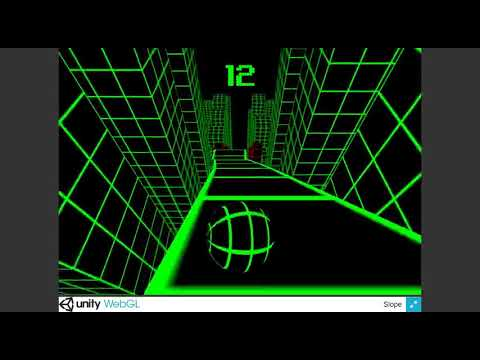 Slope Unity WebGL HTML 5 game gameplay footage part1