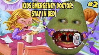 Pear FORCED to Play - Kids Emergency Doctor: STAY IN BED! #2