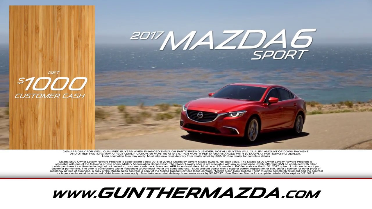 March Mania Sales Event 2017 at Gunther Mazda