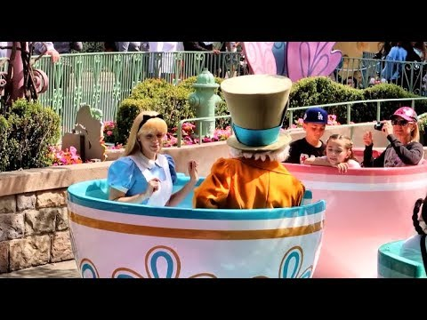 Mad Tea Party with Alice & the Mad Hatter riding with ...
