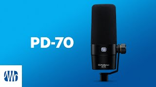 PreSonus—The PD-70 Broadcast Microphone