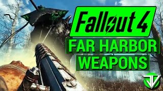 FALLOUT 4 NEW Far Harbor DLC Harpoon Gun, Lever-Action Rifle, and Fish Gaff New WEAPONS Analysis