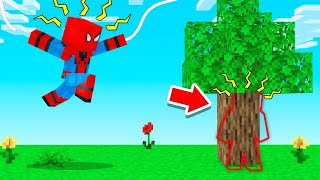 Playing HIDE & SEEK With SPIDERMAN! (Minecraft)