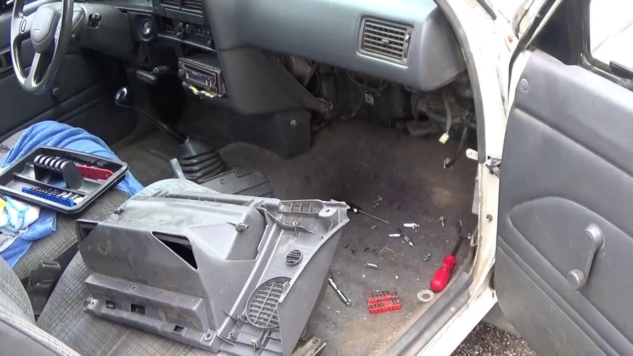 removing 89 95 toyota pickup glove box [ 1280 x 720 Pixel ]