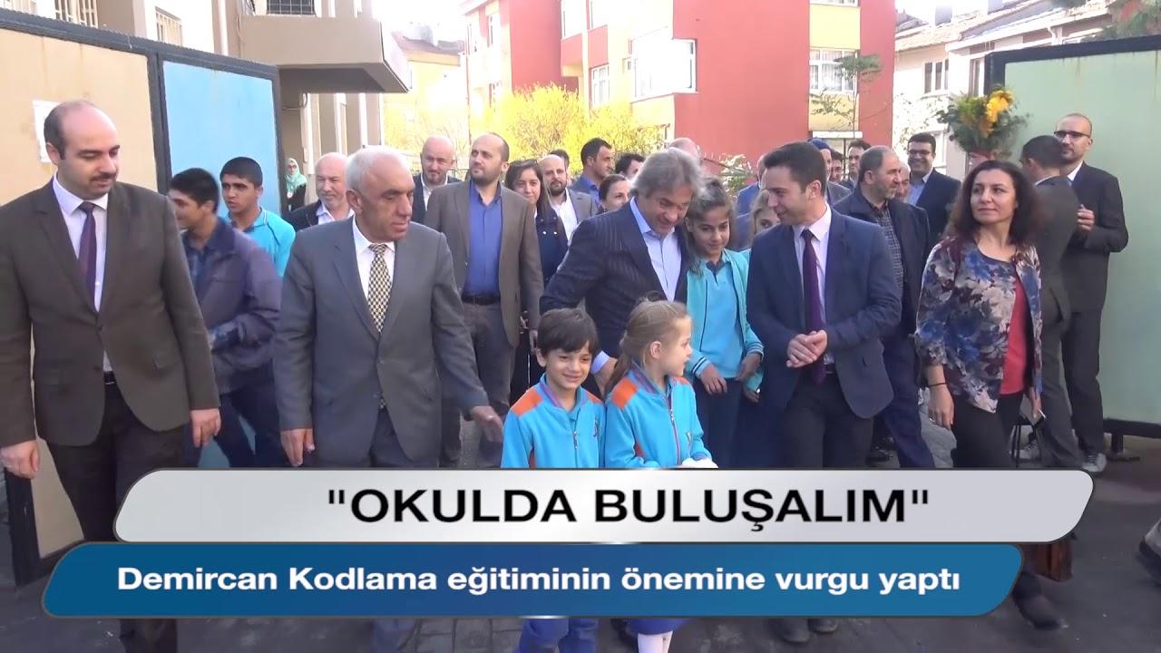 Başkan Demircan Haliç İlkokulu'nu ziyaret etti