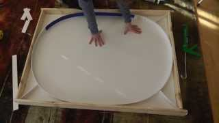 How To Make An Oval Concrete (cement) Kitchen Table