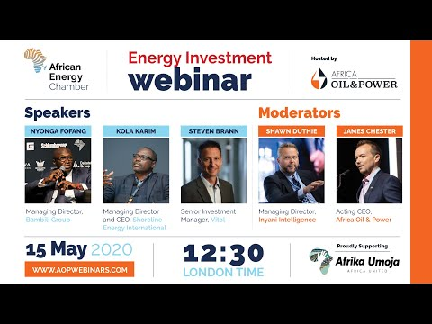 AOP Webinar: Driving African Energy Investment - LNG, African Oil & Gas Ops, and Private Equity